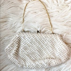 Vintage La Regale Beaded Pearl Bag/Clutch